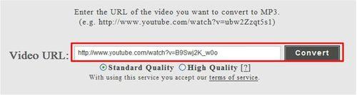將youtube影片網址複製給Videomp3