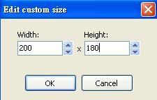 Image Tuner提供自訂尺寸縮圖