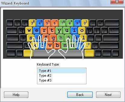 打字練習遊戲RapidTyping初始設定鍵盤