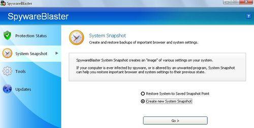 反間諜軟體SpywareBlaster設定系統快及還原設定