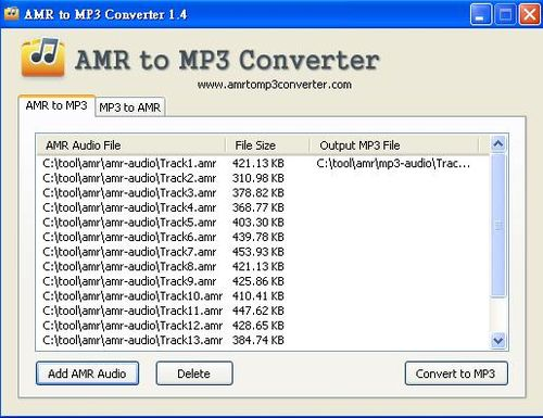 AMR to MP3 Converter一款簡易使用的amr轉mp3軟體工具