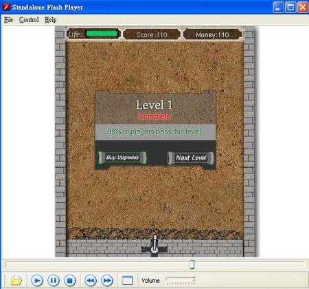 Standalone Flash Player單機播放守城小遊戲swf檔案