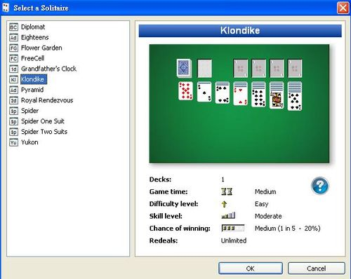 123 Free Solitaire提供免費的12款撲克牌遊戲