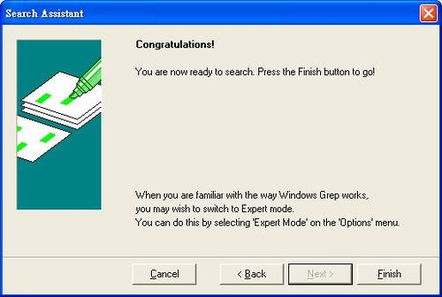 Windows Grep設定完成,開始比對找尋