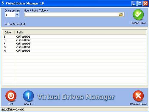 Virtual Drives Manager掛載目錄成為虛擬磁碟